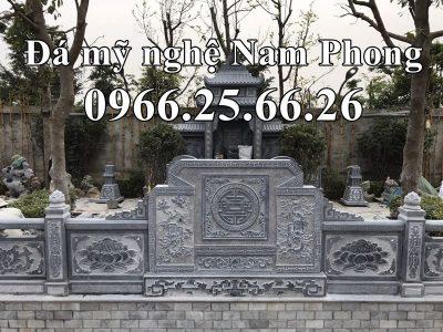 Bình Phong đá hậu bành của Khu lăng mộ đá ĐẸP Nam Phong