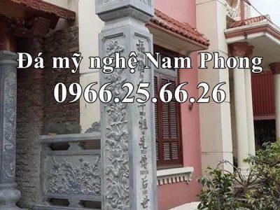 Mẫu Cột đá ĐẸP cho Nhà Chùa – Cột đá Nam Phong