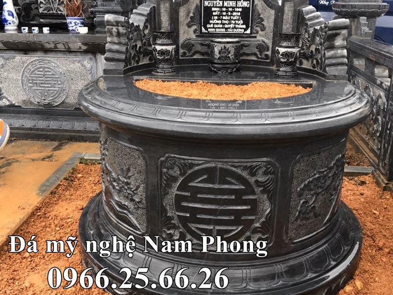 Mẫu Mộ Đá Tròn ĐẸP tựa Đài SEN cao quý cho Khu Lăng Mộ ĐẸP - Đá Mỹ Nghệ Nam Phong 2020