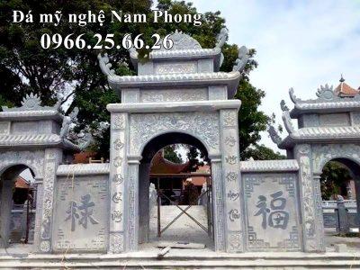 Mẫu Cổng Đá Tam Quan Đẹp, Cao Cấp của Đá Mỹ Nghệ Nam Phong cho Đình Làng