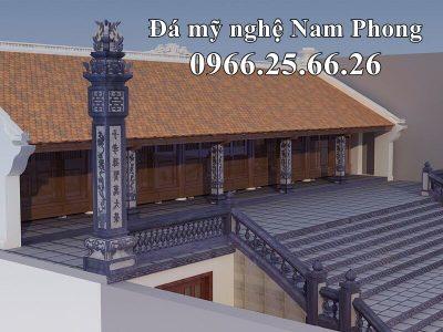 Bản vẽ Thiết kế Cột Đá Đẹp, Bậc thềm Đá và Lan Can Đá cho Đình Làng tại Ninh Bình