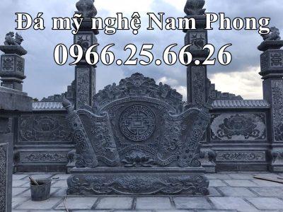 Mẫu Bình Phong Đá (Cuốn Thư Đẹp) cho Khu Lăng Mộ Đá cao cấp Nam Phong tại Ninh Bình