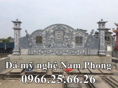 Cuốn Thư Đá (Bức Bình Phong Đá) hậu bành cho Khu Lăng Mộ Đá xanh tự nhiên Nam Phong
