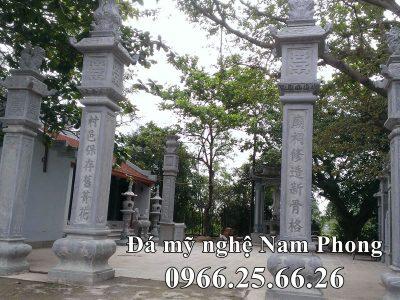 Cột Đá ĐẸP làm Cổng đá của Đình Làng Di sản Văn Hóa Việt tại Ninh Bình