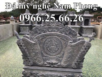 Mẫu Cuốn Thư (Bình Phong Đá) cho Khu Lăng Mộ Đá ĐẸP Nam Phong tại Bắc Ninh