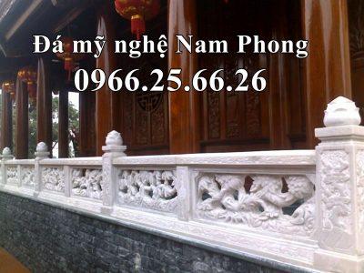 Mẫu Lan Can Đá ĐẸP – Cao Cấp cho Nhà thờ họ / Từ Đường tại Ninh Bình