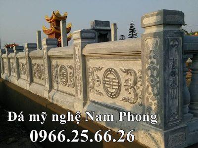 Xây Lan Can bằng Đá xanh nguyên khối cho Khu Lăng Mộ Đá ĐẸP tại Ninh Bình