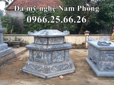Mẫu Mộ Đá Lục Giác thiết kế theo Mộ Đá Cổ cách đây 500 năm của Đá Mỹ Nghệ Nam Phong Ninh Bình