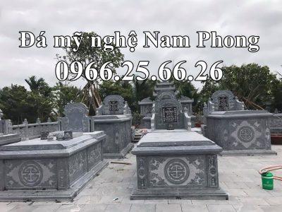 Mẫu Mộ ĐẸP – Mộ Tam Sơn Đá xanh đen tự nhiên cao cấp Nam Phong