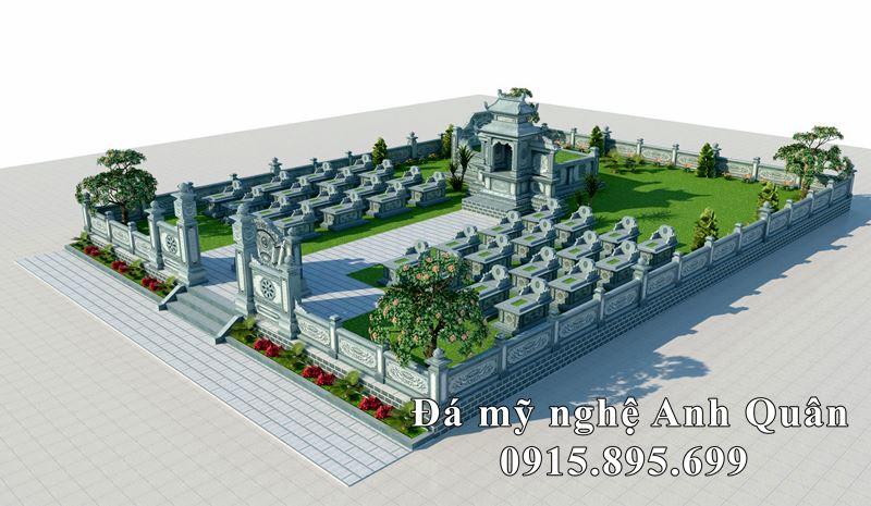 Ban ve phoi canh Lang mo da Ho Nguyen