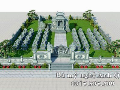 Thiết kế Lăng Mộ đá gia tộc đẹp của Đá Mỹ Nghệ Anh Quân Ninh Bình