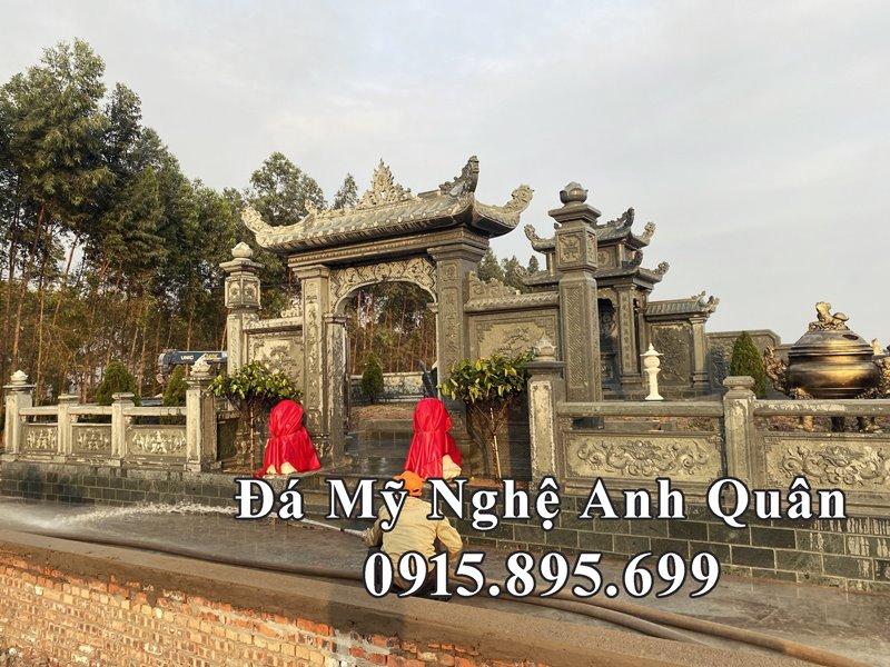 Cong vao khu lang mo da dep tai Nam Dinh