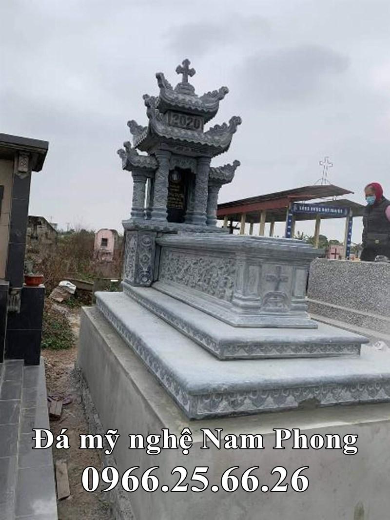 Mẫu Mộ đá công giáo tam cấp đẹp Ninh Bình
