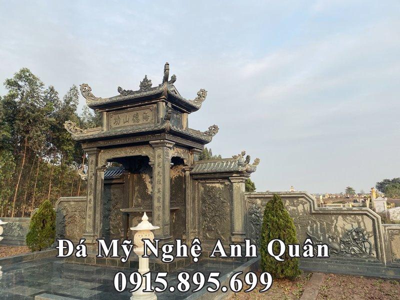 Thiet ke Mau Long dinh da - Lang tho da dang cot cao cap da xanh reu