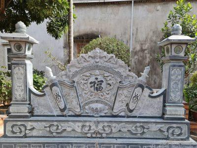 Mẫu Cuốn thư đá Nhà thờ đẹp, đá xanh rêu, chất lượng