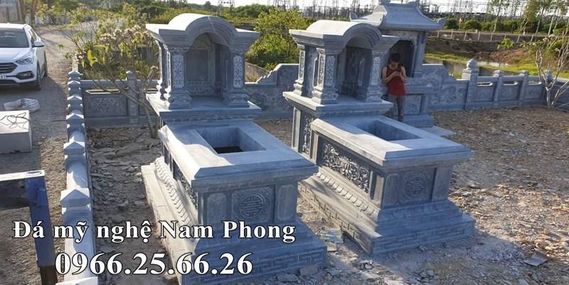 Kích thước Mộ đá một mái vòm tương đương với kích thước Mộ đá đơn và mộ một mái.