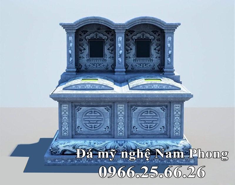 Thiết kế Mộ đá đôi Mái Vòm đẹp Ninh Bình.
