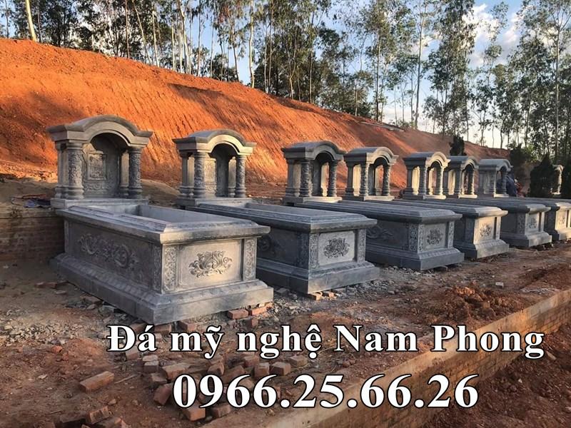 Xây mộ mái vòm đẹp tại Ninh Bình, Mộ đá đơn một mái.