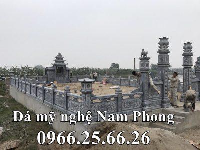 Nguyễn Tộc Chi Lăng Mộ đẹp – Mẫu Lăng mộ đá xanh tại Ninh Bình